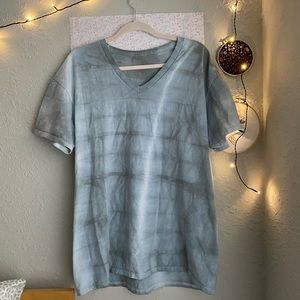UNIQUE MENS GREY TIE DYED XL V NECK